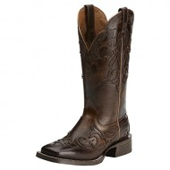 Ariat Western Boots Womens Cassidy Wingtip 9 B Mahogany 10014177
