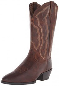 Ariat Women's Heritage Western R Toe Fashion Boot, Sassy Brown, 8.5 5E US