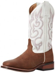Laredo Women's Mesquite Western Boot, Taupe/White, 8 M US