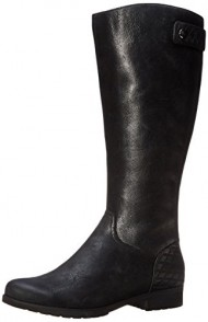 Rockport Women's Tristina Quilted Tall Riding Boot,Black Waterproof Wide Calf,11 M US