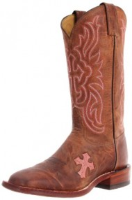 Tony Lama Women's Chocolate Goat Cross TC1005L Boot,Tan,8.5 B US