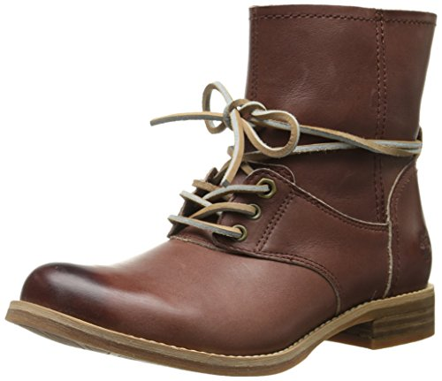 Timberland Women's Savin Hill Lace Ankle Motorcycle Boot, Light Brown, 11 M US
