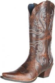 Ariat Women's Heritage Western X Toe Fashion Boot, Sassy Brown, 7 B US