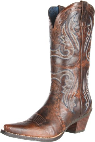 Ariat Women's Heritage Western X Toe Fashion Boot, Sassy Brown, 7 B US