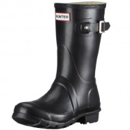 Women's Hunter Boots Original Short Snow Rain Boots Water Boots Unisex – Black – 9