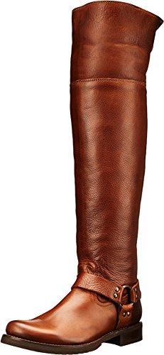 FRYE Women's Veronica Harness Over The Knee Boot, Cognac, 6.5 M US
