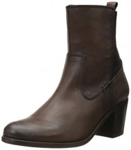 FRYE Women's Janis Gore Short Boot, Dark Brown, 6.5 M US
