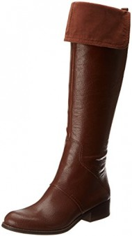 Nine West Women's Noriko Riding Boot,Cognac,7.5 M US