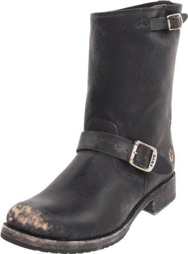 FRYE Women's Veronica Short Boot, Black Stone Wash, 6.5 M US