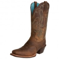 Ariat Women's Legend Western Boot, Distressed Brown, 9 M US