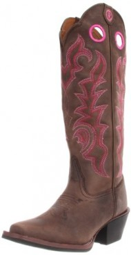 Tony Lama Women's Choc. Buckaroo RR2008L Boot,Chocolate Yukon,9 B US