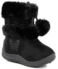 Kali Footwear Little Girl's Zello GlitterPom Pom Boots 4