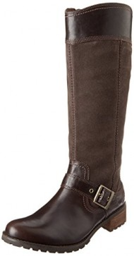 Timberland Women's EK Bethel Tall Harness Boot,Brown,8.5 M US
