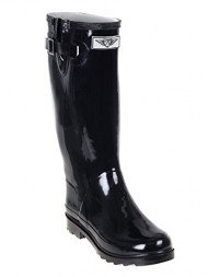 Forever Young – Womens Wellie Rain Boot, Black 37274-9B(M)US