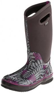 Bogs Women's Classic High Winterberry Waterproof Winter & Rain Boot,Gray Multi,7 M US