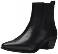 Nine West Women's Travers Leather Boot, Black/Black, 8.5 M US