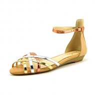 Jessica Simpson Women's Essty Dress Sandal,Gold/Multi/Liquid Metallic,9 M US