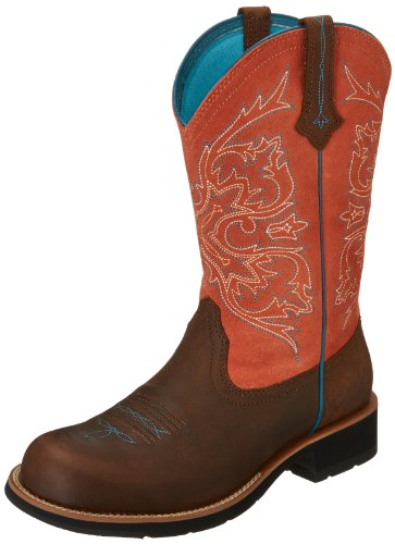 Ariat Women's Fatbaby Cowgirl Tall Western Boot, Tanned Copper/Peach, 9 M US