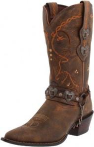 Durango Women's Crush Cowgirl Boot Saddle Brown W/Tan & Brown Boot 7 B – Medium