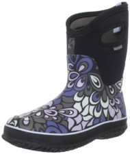 Bogs Women's Classic Mid Vintage Waterproof Boot,Black Multi,8 M US