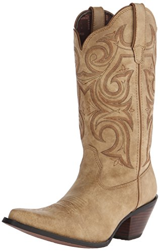 Durango Women's 11 Inch Scall-Upped Crush Riding Boot, Sandy Brown, 7.5 M US