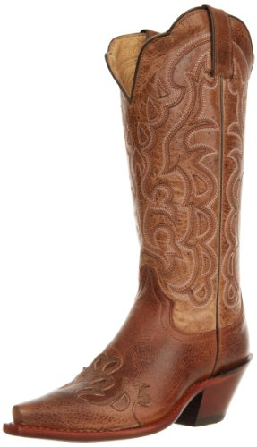 Justin Boots Women's Vintage Fashion 13″ Boot Narrow Square Toe Vintage Rubber Outsole,Mocha Damiana/Taupe Damiana/Taupe Damiana Wingtip,10 C US