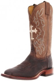Tony Lama Women's Tan Goat Cross TC1002L Boot,Tan Saigets Worn Goat,7.5 B US