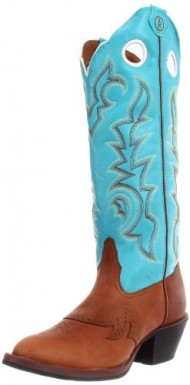 Tony Lama Women's Beige Buckaroo RR2002L Boot,Beige Renegade/Ranch Blue Baron Calf,8 B US