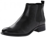 Nine West Women's Jara Leather Boot, Black/Black, 9.5 M US