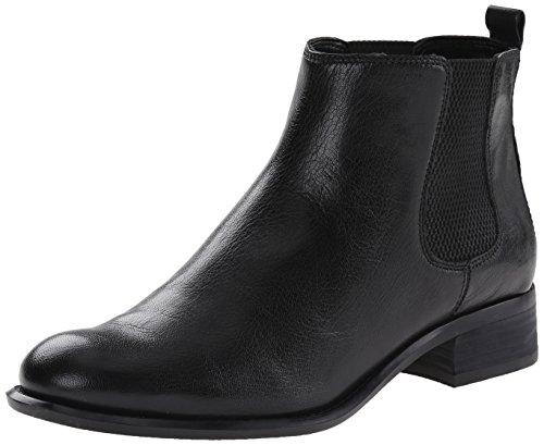 Nine West Women's Jara Leather Boot, Black/Black, 9.5 M US