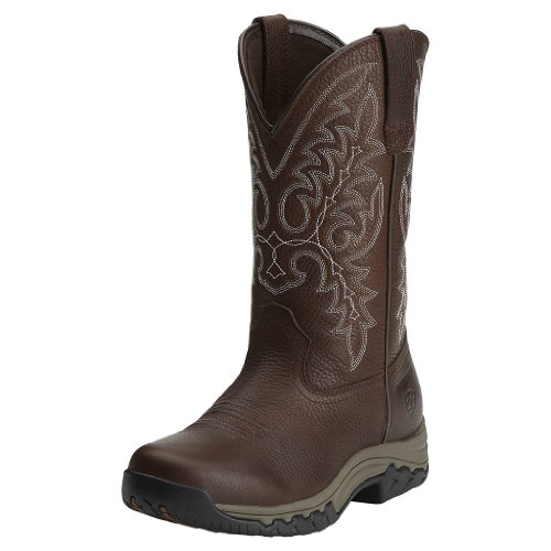 Ariat Women's Western Terrain Oiled Rowdy Cowgirl Boot Round Toe Brown US