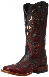 Lucchese Women's Handcrafted 1883 Fiona Oklahoma Cowgirl Boot Square Toe Red US