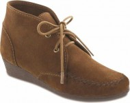 Minnetonka Women's Chukka Wedge Chukka Boot,Dusty Brown,7.5 M US