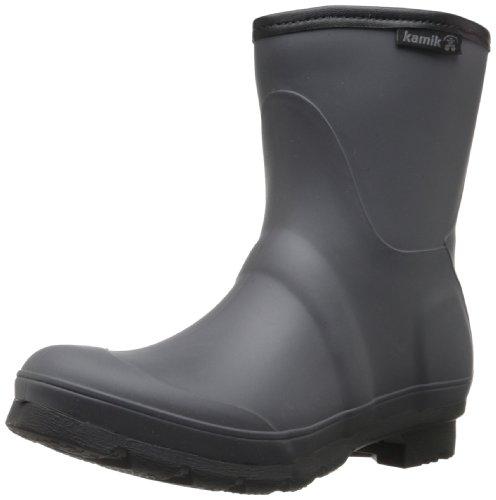 Kamik Women's Jenny Low Rain Boot,Charcoal,10 M US