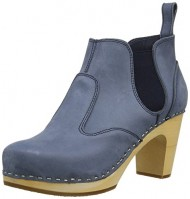 swedish hasbeens Women's Classic Chelsea Boot,Dark Blue Nubuck,7 M US