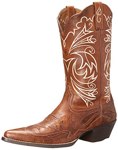 Ariat Women's Heritage Western J Toe Wingtip Fashion Boot, Wood, 9.5 M US