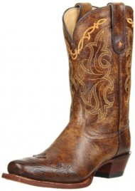 Tony Lama Women's Bark Santa Fe VF6004 Boot,Bark Santa,5.5 B US