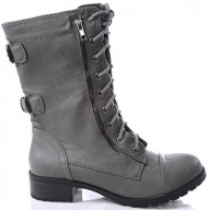 Marco Republic Commander Womens Military Combat Boots – (Grey) – 8