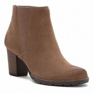 Clarks Womens Pause Camelia Boot Taupe Suede Size 11