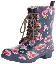 Chooka Women's Combat Flora Rain Boot, Navy, 8 M US