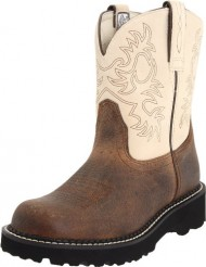 Ariat Women's Fatbaby Western Boot, Earth/Bone, 9 M US