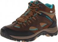 Merrell Women's Salida Mid Waterproof Hiking Boot,Dark Earth,5 M US