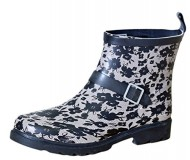 Capelli New York Women's Buckle Accent Rain Boots (9 B(M) US, Lacey Blooms/Black)