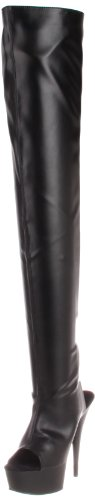 Pleaser Women's Delight-3017 Knee-High Boot,Black,12 M US