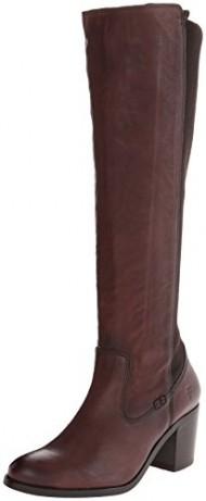 FRYE Women's Janis Gore Tall Riding Boot, Dark Brown, 10 M US