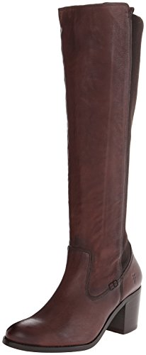 FRYE Women's Janis Gore Tall Riding Boot, Dark Brown, 10 M US
