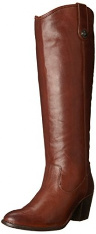 FRYE Women's Jackie Button Boot, Cognac Wide Calf, 8.5 M US
