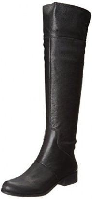 Nine West Women's Noriko Riding Boot,Black,7.5 M US