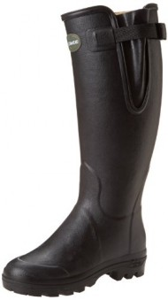Le Chameau Women's Vierzon Leather Rubber Boot, Black,8 M US