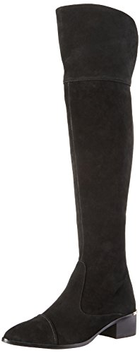 Donald J Pliner Women's Divo Over-the-Knee Boot, Black Suede, 8 M US